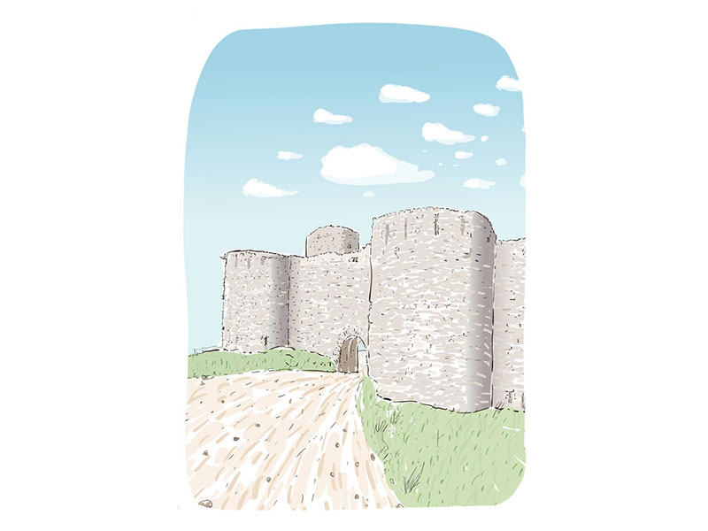 illustration du chateau de Clemont l'Hérault