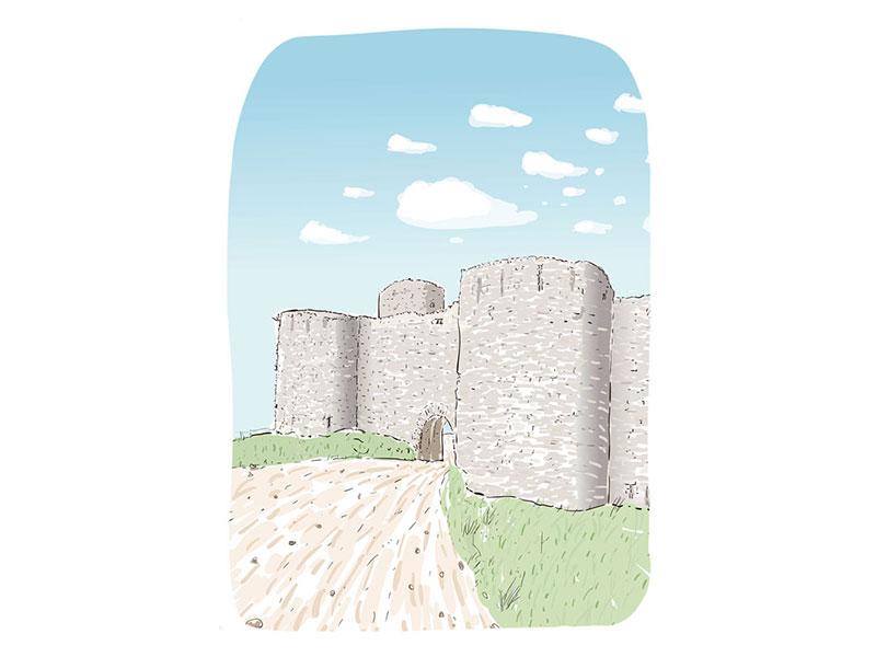 illustration du chateau de Clemont l'Hérault