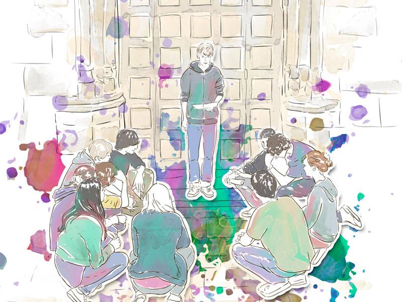 illustration théâtre jeune